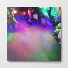 Light reflections on newly fallen snow Metal Print