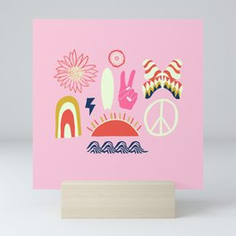 peace + harmony + surf Mini Art Print