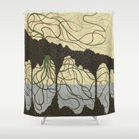 hawaiian Shower Curtains featuring first hawaiian by thefleafarm (Amy Wright)