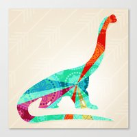 dinosaur Canvas Prints featuring dinosaur by Emmy Winstead