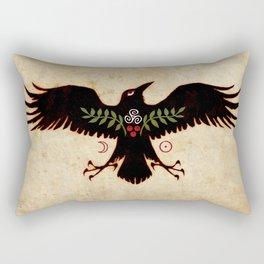 Raven Talisman of Protection Rectangular Pillow
