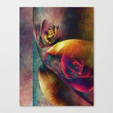 Flower Planets Canvas Print