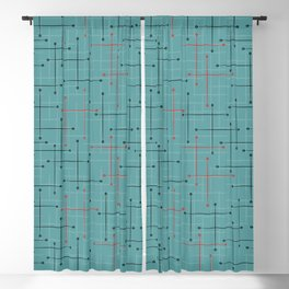 Swizzle Stix on Blue Blackout Curtain