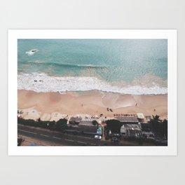 Aerial Mirissa Beach, Sri Lanka 3 Art Print