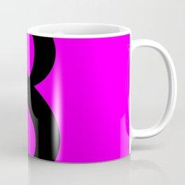 8 (BLACK & FUCHSIA NUMBERS) Coffee Mug