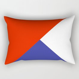 Triangles Retro Pop Art Abstract - Red White Blue Series Rectangular Pillow