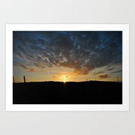 Midsummer Sunset 2, Bressay Art Print