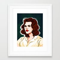 peggy carter Framed Art Prints featuring Peggy Carter by Nisie