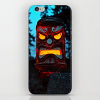 returns iPhone & iPod Skins featuring Tiki returns by Vorona Photography