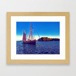 Tenby Sailing boat Framed Art Print