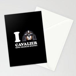 I Love Cavalier King Charles Spaniel modern v2 Stationery Cards