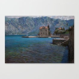 Montenegro. Kotor bay Canvas Print