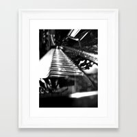 piano Framed Art Prints featuring Piano by Claire Filz