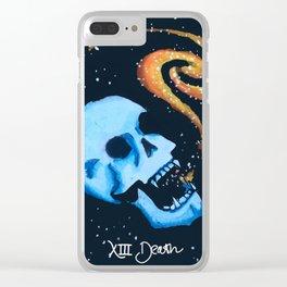 Tarotverse Deck: Death Tarot Card Clear iPhone Case