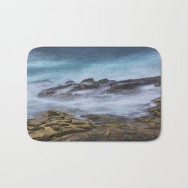Misty Ocean Blur Bath Mat