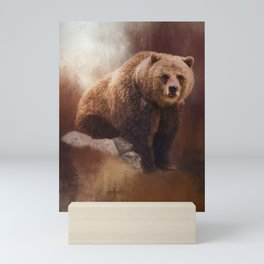 Great Strength - Grizzly Bear Art Mini Art Print