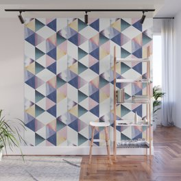Watercolor geometric pastel colored seamless pattern Wall Mural