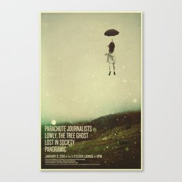 Parachute Journalists - Umbrella Girl Canvas Print