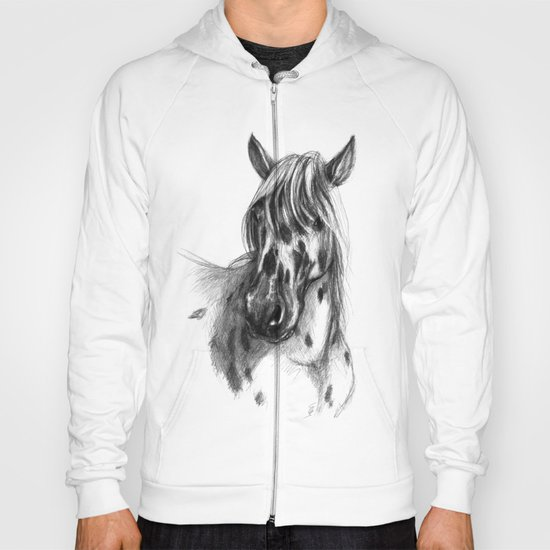 Leopard Spotted Horse portrait sk127 Hoody