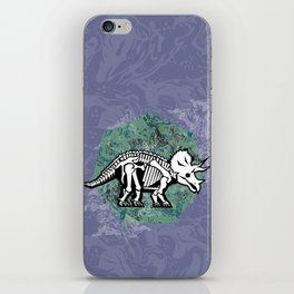 Triceratops Fossil iPhone Skin