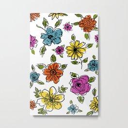 Floral Flair Metal Print