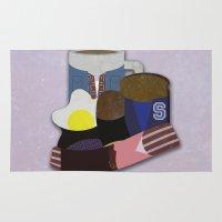 breakfast club Area & Throw Rugs featuring Breakfast Club by Matt Humphrey