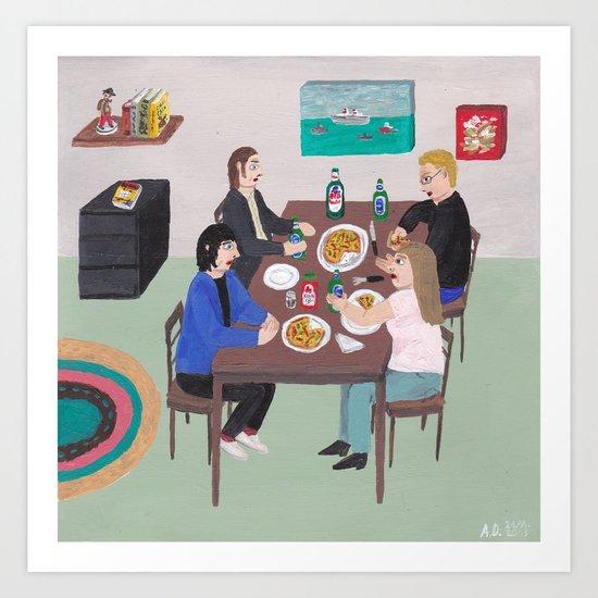 Invitation for Dinner Art Print