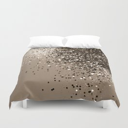 Sparkling Sepia Lady Glitter #1 #shiny #decor #art #society6 Duvet Cover