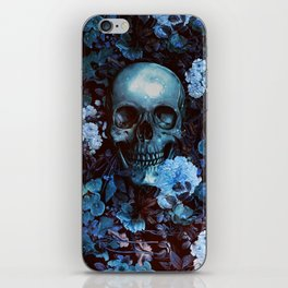 Skull and Flowers iPhone Skin