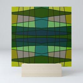 Green Pattern Turtle Mini Art Print