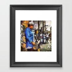 Street Sax Framed Art Print