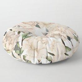 Peonies Pattern Floor Pillow