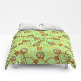 Spiral Round Green Comforters