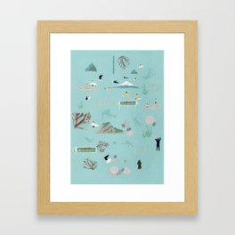 Surf NZ Framed Art Print