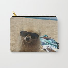 Dog At Beach Carry-All Pouch