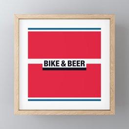 Bike & Beer by Dennis Weber of ShreddyStudio Framed Mini Art Print
