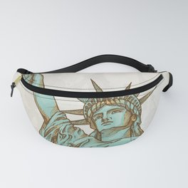 statue of liberty hand dawn Fanny Pack