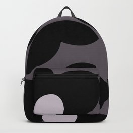 Large abstract purple black flowers Backpack