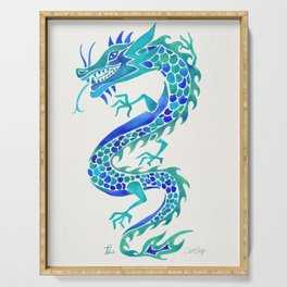 Chinese Dragon – Blue Palette Serving Tray