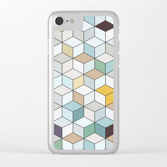Cubed II Clear iPhone Case