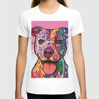 rottweiler T-shirts featuring Rottweiler Dog by trevacristina