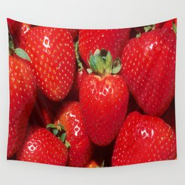 Garden Strawberries Wall Tapestry