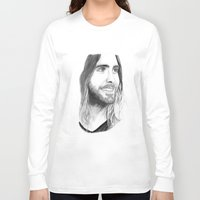 jared leto Long Sleeve T-shirts featuring Jared Leto by Art by Cathrine Gressum