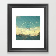 Try Too Hard Framed Art Print