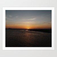 Fripp Island Sunset Art Print