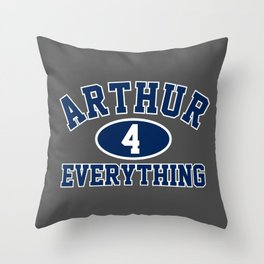 Arthur4Everything Gym T-Shirt Throw Pillow