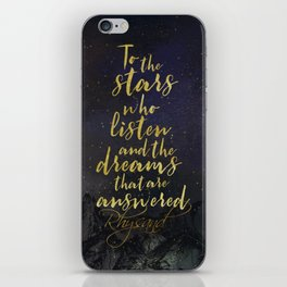 To the stars who listen...A Court of Mist and Fury (ACOMAF) iPhone Skin