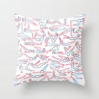workout Throw Pillows featuring Workout by Jacopo Rosati