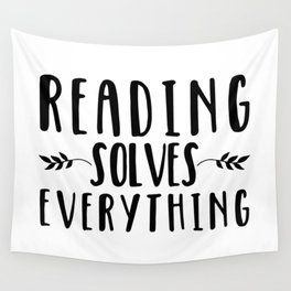 Reading Solves Everything Wall Tapestry