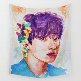 Jungkook et les fleurs Wall Tapestry